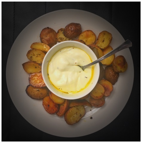 Roasted Baby Potatoes with wine
