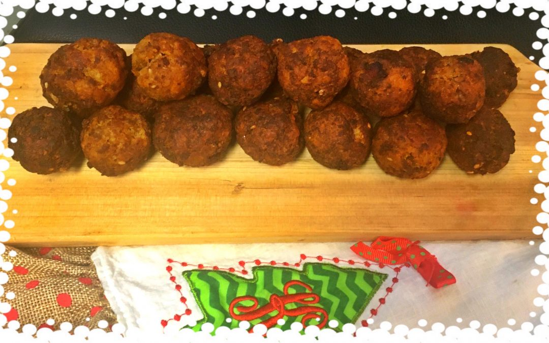 Meatballs with ouzo and sesame