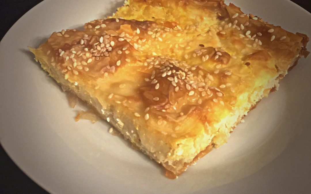 Leek pie with goat cheese