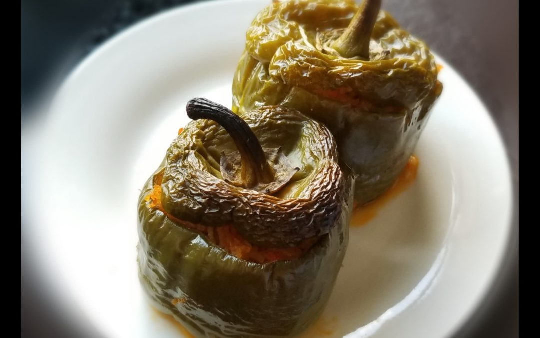 Gemista ( Stuffed peppers with rice and carrots)