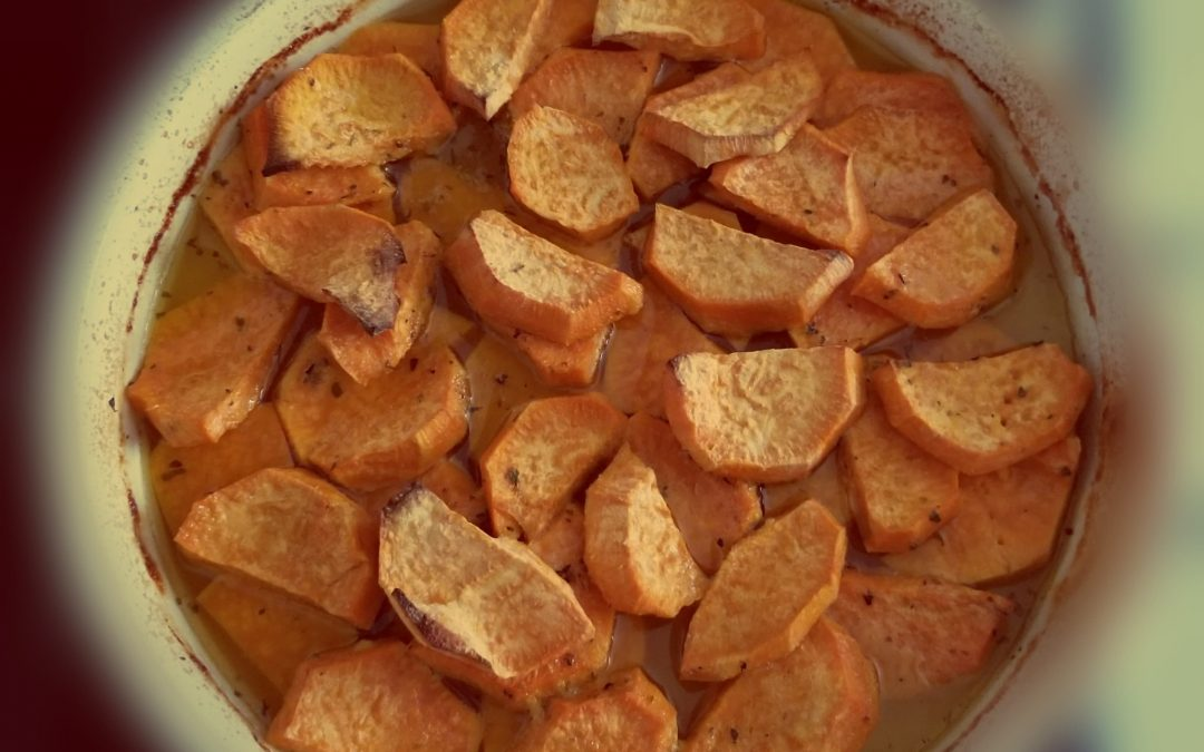 Sweet Potatoes in the oven